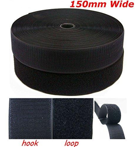 noir-bande-velcro-coussinets-150-mm-extra-large-coudre-xl-carres-feuilles-300mm-hook-300mm-loop