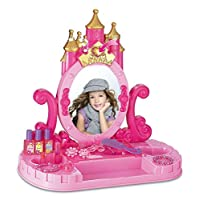 WAF Children Castle Vanity Pink Musical Dressing Makeup Table Princess Light & Sounds Pretend Play Toy for Girl Kids