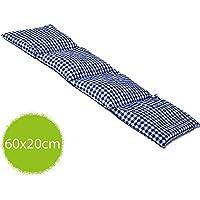 Traubenkernkissen 20x60cm groß 4-Kammer blau-weiß; Wärmekissen, Körnerkissen preisvergleich bei billige-tabletten.eu