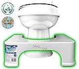 Step and Go Toilettenhocker, 17,8cm, sorgt für die richtige Haltung beim Stuhlgang