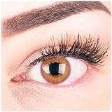 """Sehr stark deckende und natürliche braune Kontaktlinsen SILIKON COMFORT NEUHEIT farbig """"Rose Brown"""" + Behälter von GLAMLENS - 1 Paar (2 Stück) - DIA 14.00 - mit Stärke -1.00 Dioptrien"""