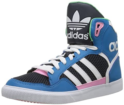 adidas Originals EXTABALL W D65392 Damen Sneaker, Blau (DARK SOLAR BLUE S14 / RUNNING WHITE FTW / ST TROPIC BLOOM S1), EU 42 (UK