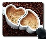 en forme de coeur Tasse à café personnalisée rectangle Tapis de souris Tapis de souris Tapis de souris de jeu en 240mm * 200mm * 3mm