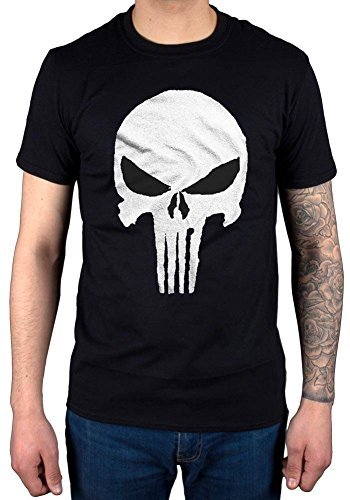 Official Marvel Comics Punisher Jagged Skull T-Shirt