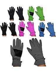 """Fingerhandschuhe _ Softshell _ """" freie Farb & Größenwahl """" - Thermo gefüttert mit Fleece - Größen: 4 Jahre bis Erwachsene Gr. 7 - wasserdicht + atmungsaktiv Soft Shell / dünner Thermohandschuh - Fingerhandschuh für Kinder / Erwachsene / Damen / Herren - Jungen Mädchen - dünner Fingerhandschuh / Thermohandschuhe Handschuhe"""
