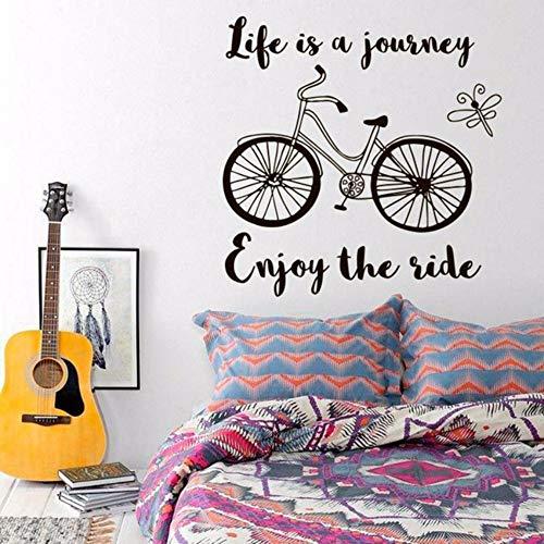 (Pbldb Kunst Wandtattoos Das Leben Ist Eine Reise Genießen Sie Die Fahrt Inspiration Zitat Fahrrad Vinyl Aufkleber Wandbild Office Study Home Decor57X57 Cm)