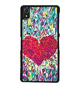 Heart Design 2D Hard Polycarbonate Designer Back Case Cover for Sony Xperia Z3 :: Sony Xperia Z3 Dual :: Sony Xperia Z3 D6633