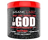 Insane Labz I am God Hardcore Pre Workout Booster Trainingsbooster Bodybuilding (Fruit Punch 293g Dose)
