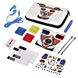 Hama Zubehör-Set für Nintendo 3DS XL, 13-teilig, Happy Dog (inkl. Tasche, Schutzfolien, Kopfhörer, Stifte u.v.m.)