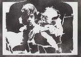 Luke Skywalker Und Yoda STAR WARS Poster Plakat Handmade Graffiti Street Art - Artwork