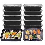 Agoky 20er/ 25er Meal Prep Container 3-Fach Containers | Stabil Qualitativ Hochwertig Food Box | Wiederverwendbar, Microwellen-, Gefrierbox- und Spülmaschinenfest 25 er 650ml