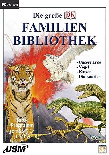 Die große Dorling Kindersley Familienbibliothek - Unsere Erde, Katzen, Vögel und Dinosaurier (DVD-ROM)