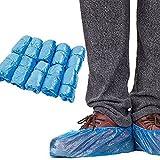 Lifeyz Couvre-Chaussures jetables Plastique étanche Sac à Chaussures sur-Chaussures Tapis Protection Sol protecteurs couvertures Bleu Lot de 100