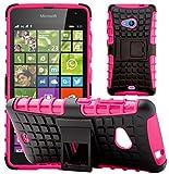 G-Shield Hülle für Microsoft Lumia 535 Stoßfest Schutzhülle mit Ständer - Rosa