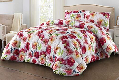 centesimo web shop trapunta piumone matrimoniale invernale calore 5 piazzata classico classica floreale fiori rossi bianco