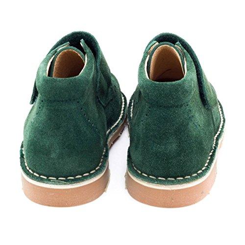 Boni Albert - Chaussures Garçon cuir scratch Vert