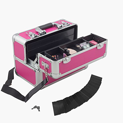 anndora Multikoffer Beautycase Kosmetikkoffer Etagenkoffer abschließbar - Pink