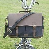 London Craftwork New Brompton Esclusiva Artigianale Messenger Bag in Nero per S/M/h/P manubri Brompton Bagaglio, Nero