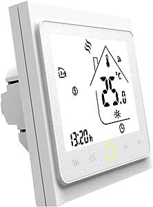 Weehey Thermostat WiFi avec /écran Tactile LCD Affichage hebdomadaire programmable d/économie d/énergie Smart Controller pour Le Chauffage deau 3A