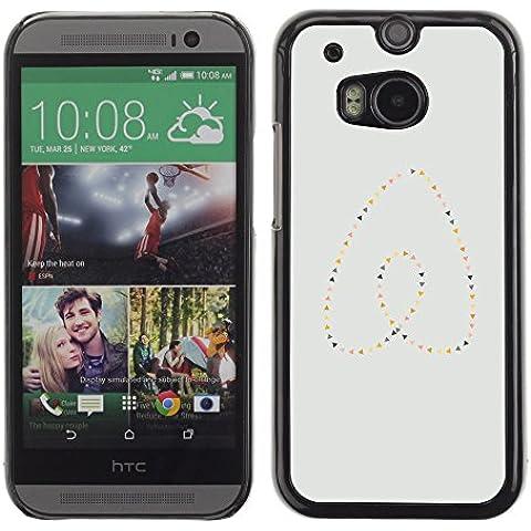 GooooStore/Dura Custodia Rigida della copertura della cassa - Heart Pearls Gold Blue Minimalist - HTC One M8 - Blue Pearl Gt