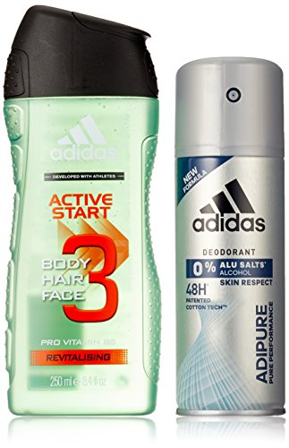 Adidas Adipure Deo + Active Start Shower Gel, 400 ml -