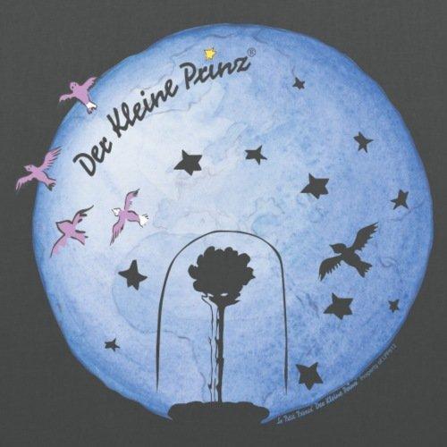 Spreadshirt Der Kleine Prinz Planet Erde Und Die Rose Stoffbeutel Graphite