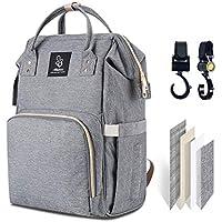 Athelain Bolso cambiador para bebé, tamaño grande, multifunción, impermeable, mochila de viaje, pañales, bolsa