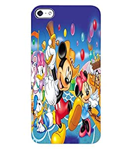 ColourCraft Lovely Cartoon Character Design Back Case Cover for APPLE IPHONE 4S