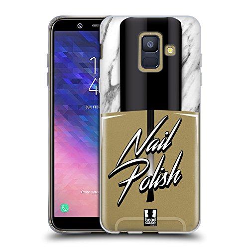 Head Case Designs Nagellack Lebenswichtige Güter Soft Gel Hülle für Samsung Galaxy A6 (2018)