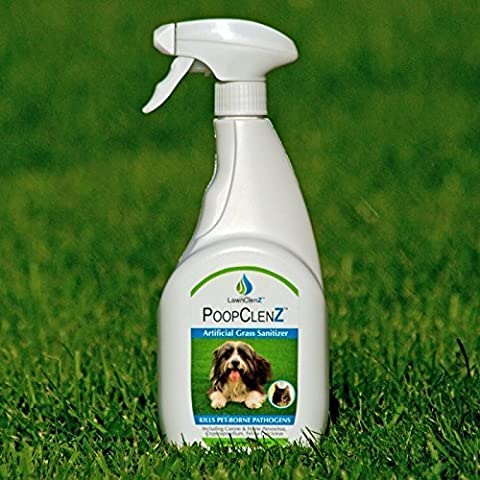 PoopClenz Artificial Grass Lawn Sanitizer, Kills Pet-Borne Pathogens, Safe For People & Pets Easy To Use 750ml Trigger