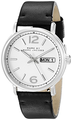 Marc Jacobs MBM5076 42mm Stainless Steel Case Black Calfskin Mineral Men's Watch