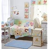 Juego de cama de bebé, diseño Disney Hiding Winnie the Pooh Collection 4pc de cama de cuna cuna juego de cama