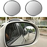 #7: AutoStuff 2 X Blind Spot Mirrors 50mm Wide Angle Convex Mirrors 2 Inch