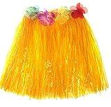JUNGEN Falda de Hierba de Hula de Niños Falda de Hierba Hawaiana para Ropa de Baile Eventos...