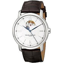 Baume & Mercier Classima - Reloj (Reloj de pulsera, Masculino, Acero inoxidable, Acero inoxidable, Cuero, Marrón)