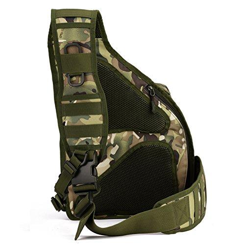 magcomsen Man Assault Rucksack Wandern Sling Pack Military Army Tactical Nylon Tasche CP