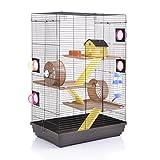 Wagner Cages Hamsterkäfig - Doppelkäfig für Hamster Lenzkirch choco