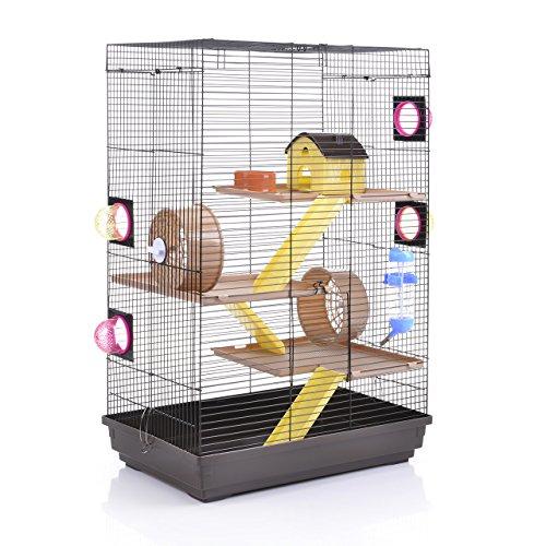 Wagner Cages Hamsterkäfig - Doppelkäfig für Hamster Lenzkirch choco/vanilla (Hamster Käfig)
