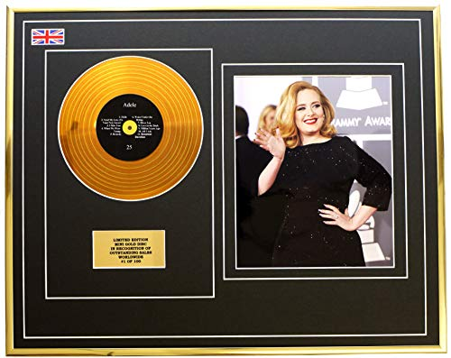 Everythingcollectible Adele/Mini Metall Gold DISC & Foto Display/Limitierte Edition/COA/ 25