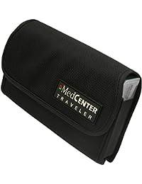 MedCenter Traveller – Organizador de Pastillas Compacto Semanal (7-Días) y Funda de Viaje de Nailon – Ideal para Continuar con la Medicación Diaria Durante las Vacaciones y Viajes de Negocios