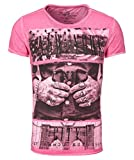 Key Largo Herren T-Shirt MT New York Kurzarm pink (71) L
