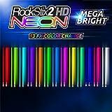 #10: Pair Of LIGHT UP DRUMSTICKS by ROCKSTIX: 2 HD BRIGHTER NEON COLOR CHANGE, MEGA BRIGHT - LED LIGHT UP DRUMSTICKS