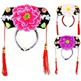 Gosear Chinesisch Japanisch Oriental Princess Mädchen Pfingstrose Haarreifen Haarschmuck Hut Menge 1 zufällige Farbe