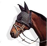 TUDIO Maschera Anti-Mosche Per Cavalli Regolabile - Anti UV E Resistente All'acqua In Maglia Di Poliestere Di Alta Qualità