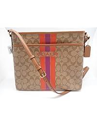 Coach Varsity Stripe File Crossbody Bag