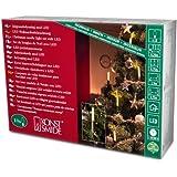 Konstsmide 1068-010 LED Baumkette mit Schaftkerzen /  für Innen (IP20) /  230V Innen / 10 warm weiße Dioden / grünes Kabel