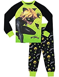 Miraculous Ladybug - Pijama para Niños - Cat Noir - Ajuste Ceñido