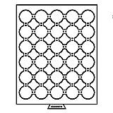 Leuchtturm 331986 MB Münzbox für Kapseln mit Innendurchmesser: 33 mm Ø | Für Dt. 10-/20-Euro Gedenkmünzen, 10 DM, 10 und 20 Sfr. | rauchfarben