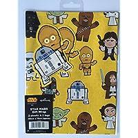 Star Wars Hallmark Gift Wrap 2 Sheets 2 Tags