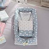 Baby cot Tragbares Krippbett Abnehmbares Babyisolationsbett Neugeborenes Bionisches Bett, 90 * 50 * 15cm, Steppdeckengröße: 80 * 90CM,5